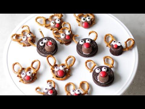 How to Make Pretzel Reindeers   Easy Pretzel Reindeer Treats Recipe 3 options
