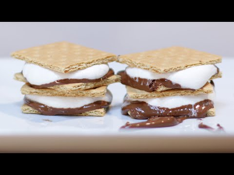 How to Make S'mores in the Microwave | Yummy Smores at Home