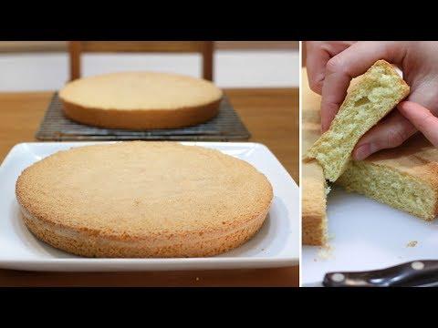 How to Make Sponge Cake | Easy Three Ingredient Sponge Cake Recipe