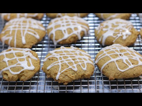 How to Make Pumpkin Cookies | Easy Soft Glazed Pumpkin Cookie Recipe