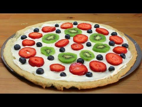 How to make a Dessert Pizza | Easy Dessert Pizza Recipe