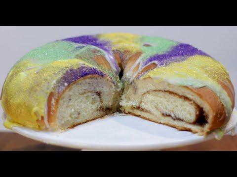 How to make King Cake   Easy Mardi Gras King Cake Recipe
