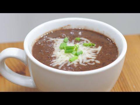 How to Make Black Bean Soup   Easy Homemade Black Bean Soup Recipe
