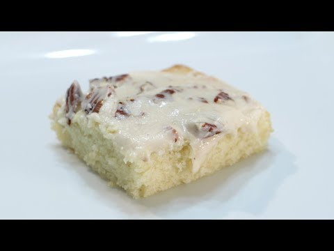 How To Make White Texas Sheet Cake | Easy Sheet Cake Recipe