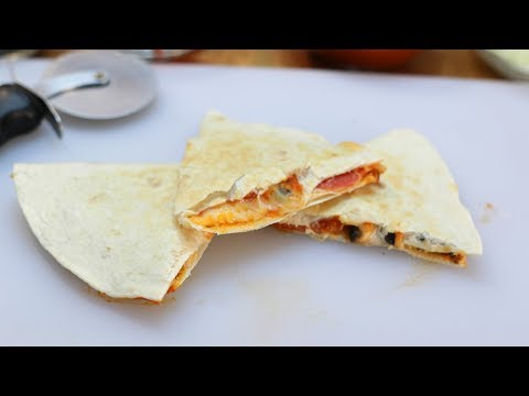 How to Make a Pizza Quesadilla | Easy Homemade Pizza Quesadilla Recipe
