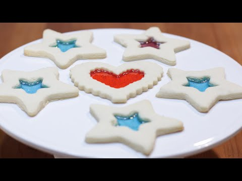 How to Make Stained Glass Cookies | Easy Homemade Stained Glass Cookies Recipe