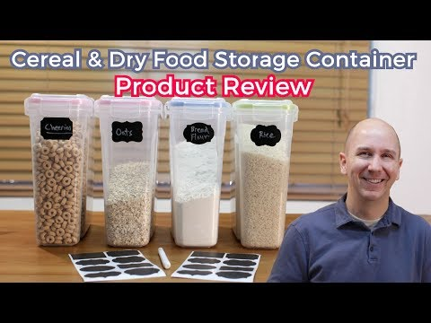 Cereal and Dry Food Storage Container Set by Palm Tree Chef | Product Review Episode 15