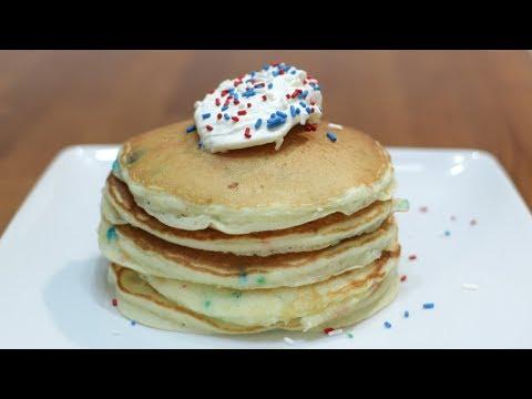 How to Make Cake Mix Pancakes   Easy Funfetti Pancake Recipe