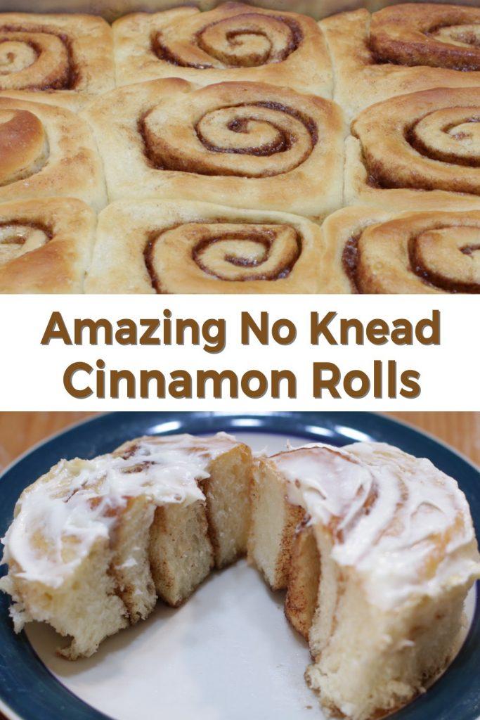 No knead cinnamon rolls pin