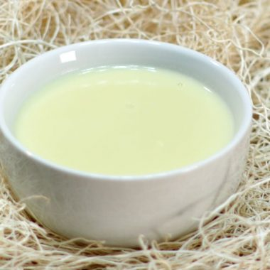 easy egg custard recipe in a white bowl on a table