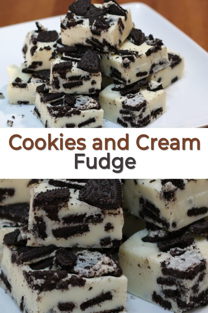 Cookies and cream pin for Pinterest