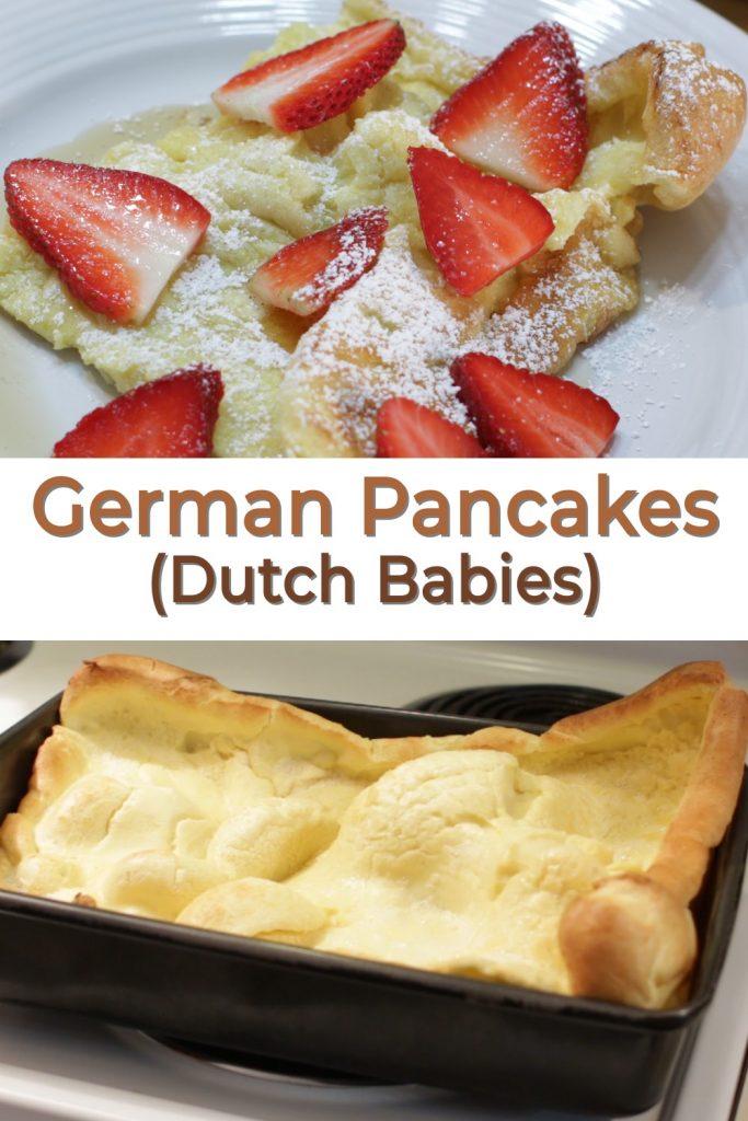 German Pancakes Dutch Babies Pin for Pinterest