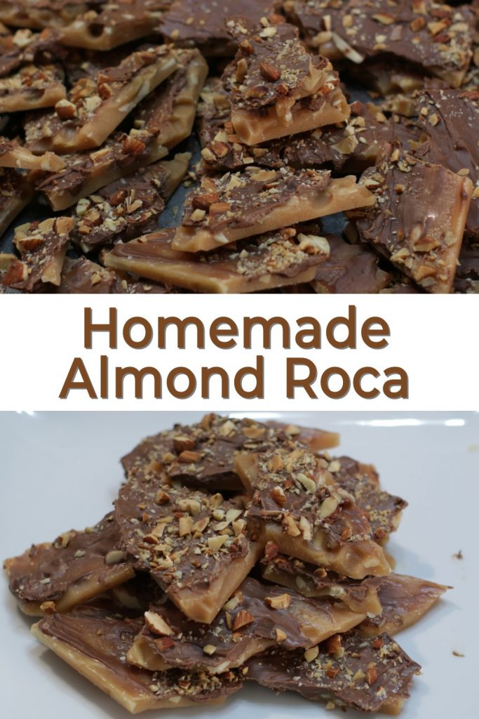 Homemade Almond Roca Pin for Pinterest