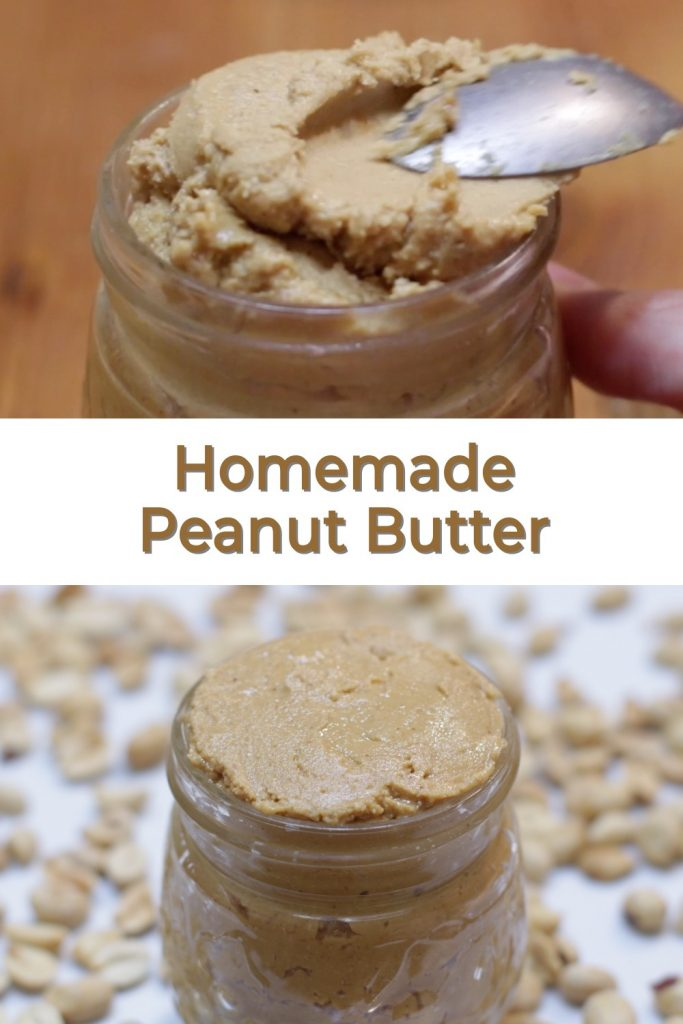 Homemade peanut butter pin for Pinterest