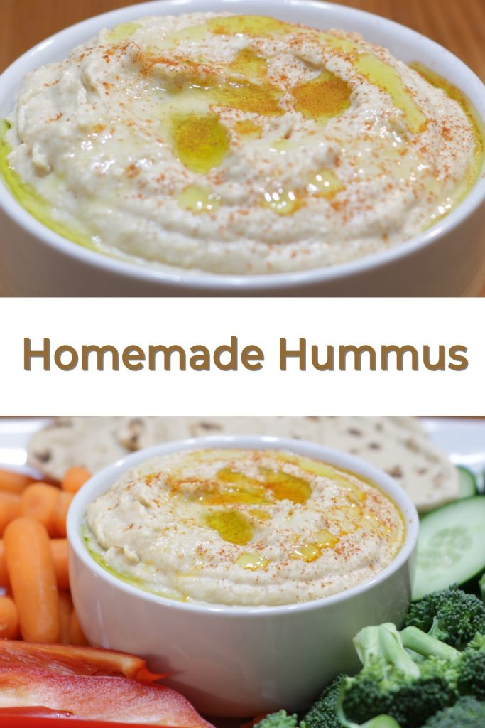 Homemade Hummus pin for Pinterest