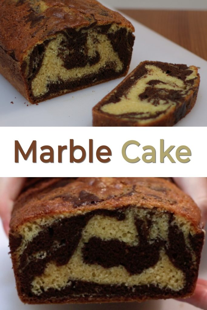 Marble cake pin for Pinterest
