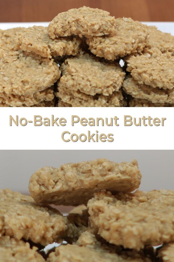 No-Bake peanut butter cookies pin for Pinterest
