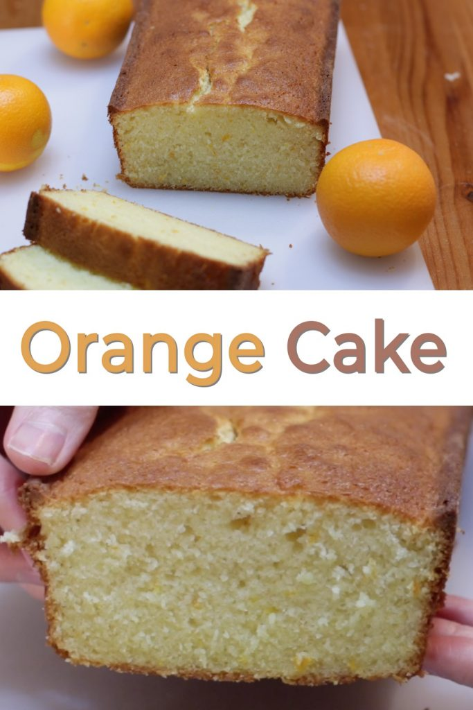 Orange cake pin for Pinterest