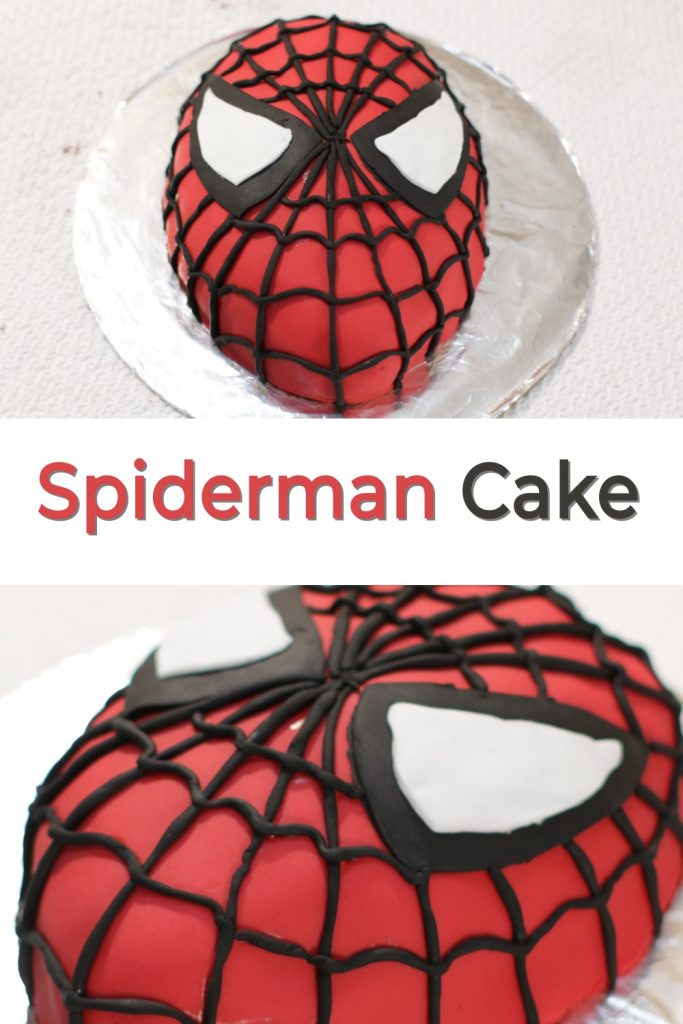 Spiderman Cake Pin for Pinterest