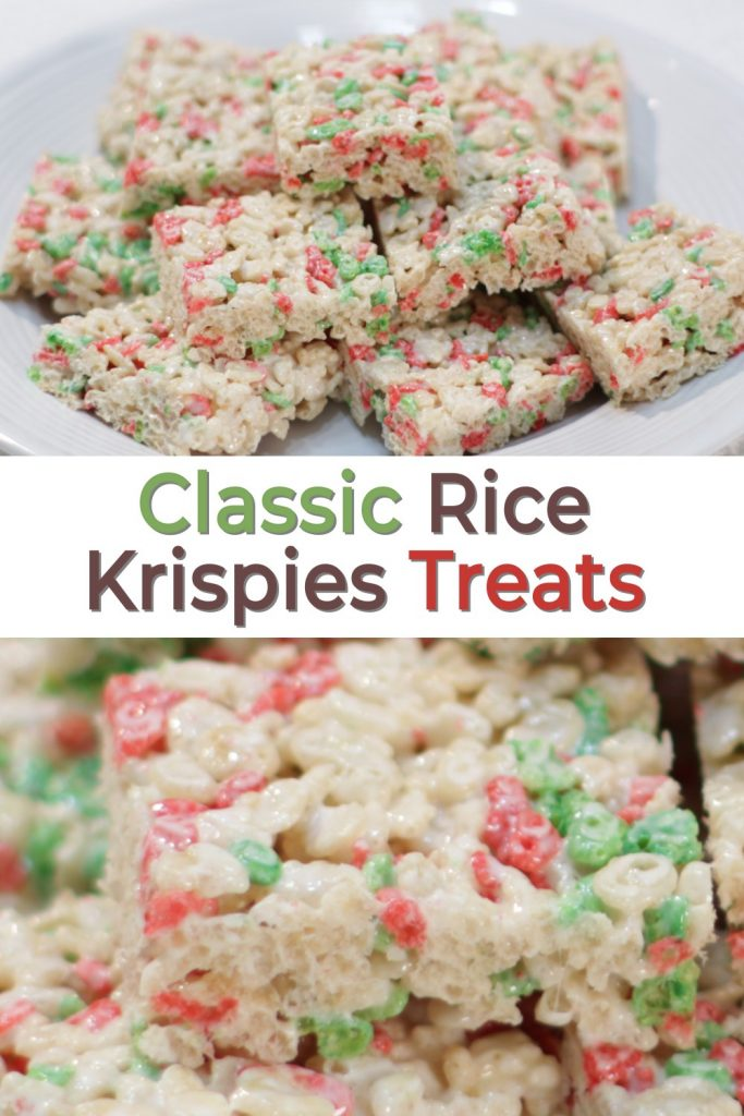 Classic Rice Krispies Treats pin for Pinterest