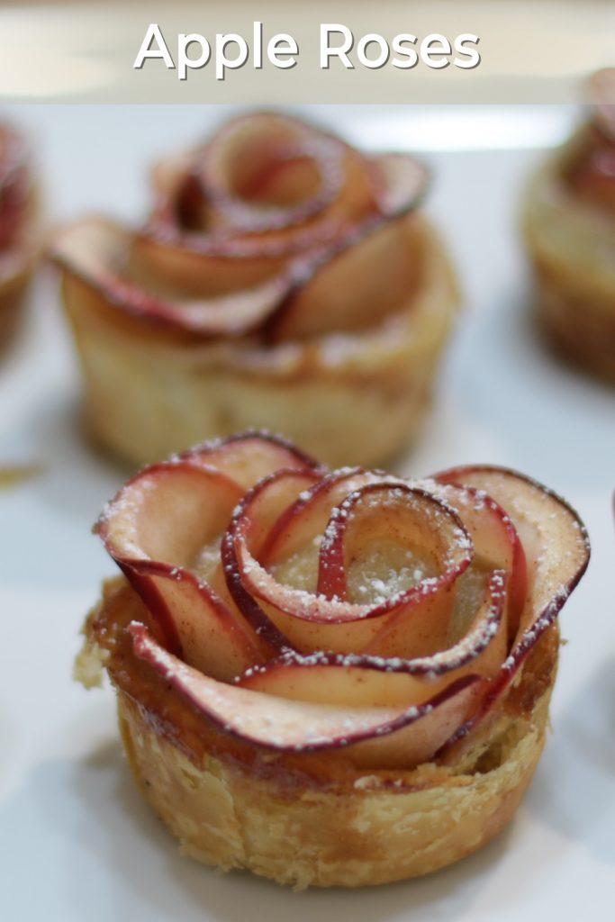 Apple roses pin for Pinterest