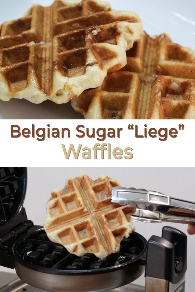 "Belgian Sugar ""Liege"" Waffles pin for Pinterest"
