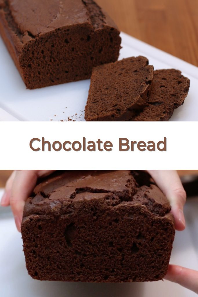 Chocolate bread pin for Pinterest
