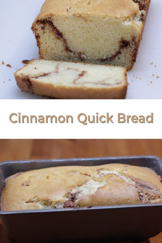 Cinnamon quick bread pin for pinterest