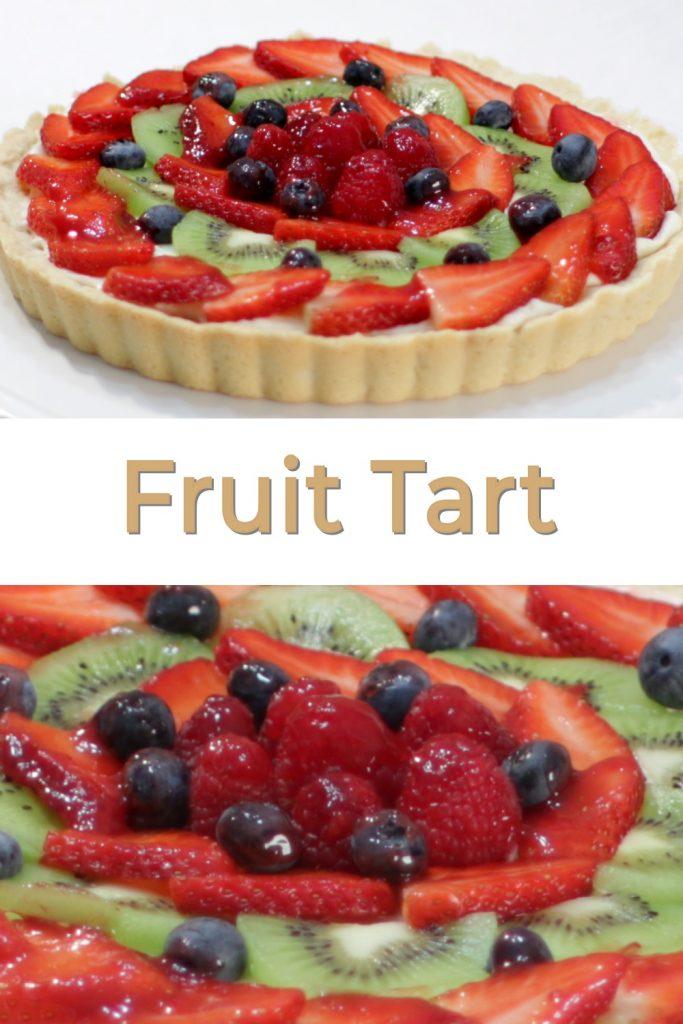 Fruit Tart pin for Pinterest