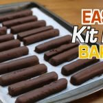 easy kit kat bars on a sheet pan with parchment paper