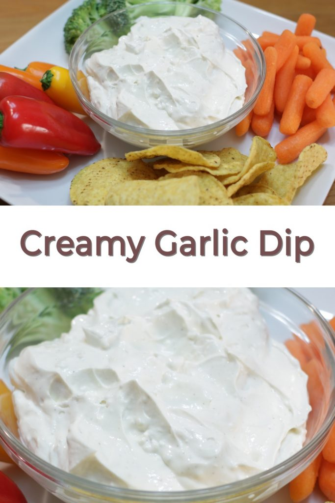 Creamy Garlic Dip pin for Pinterest