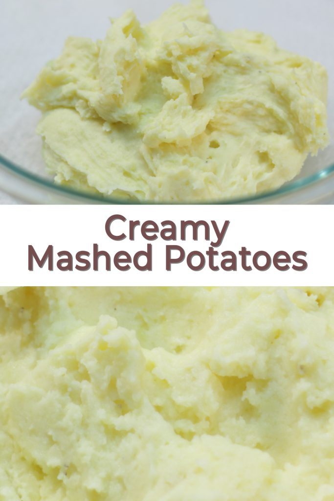 Creamy mashed potatoes pin for Pinterest