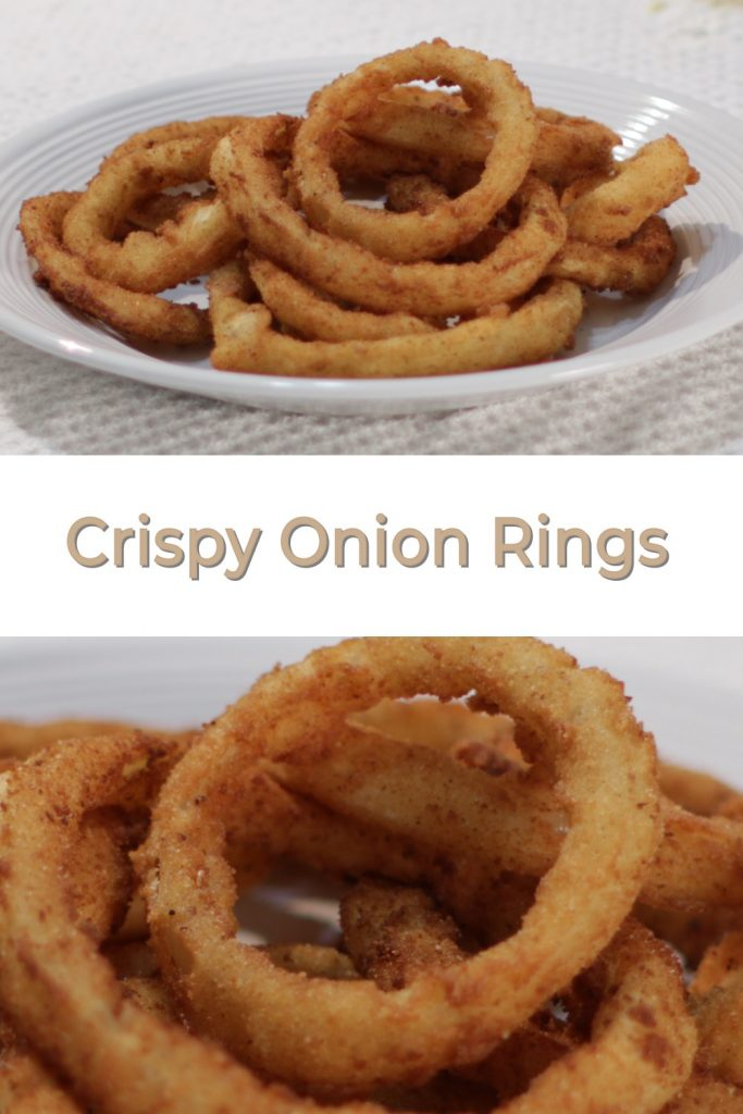 Crispy Onion Rings pin for Pinterest