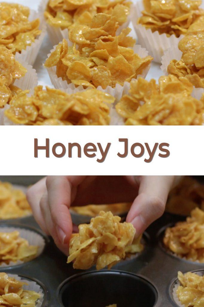 Honey Joys pin for Pinterest