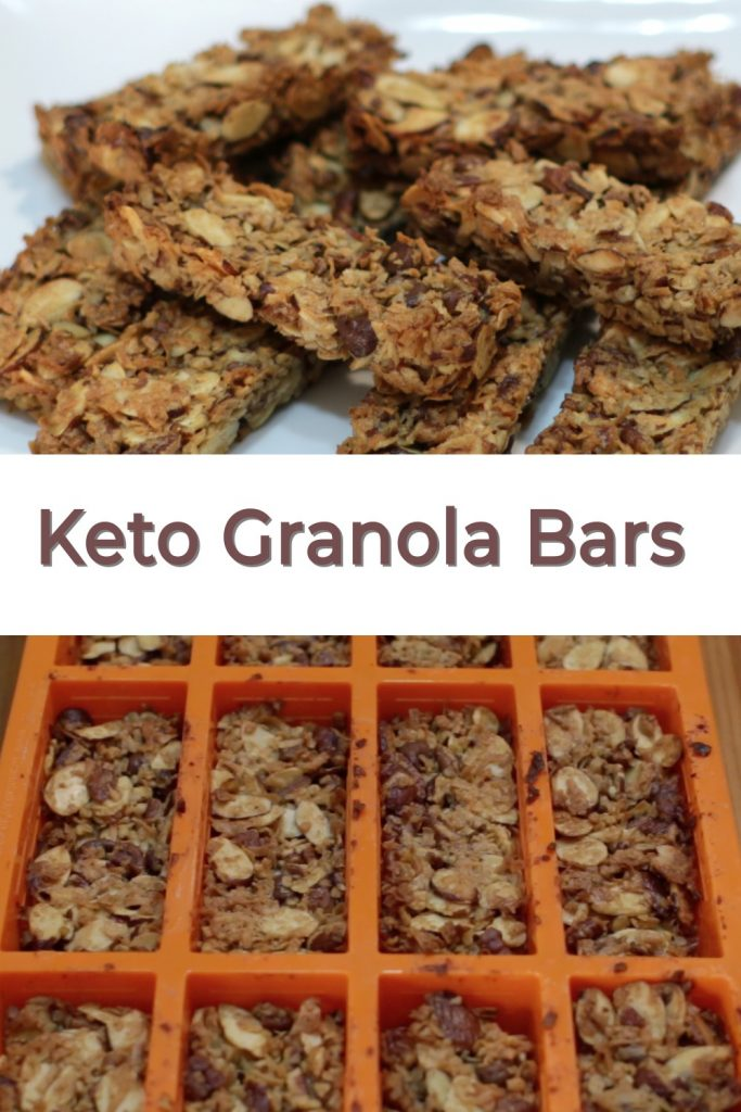 Keto Granola Bars Pin for Pinterest