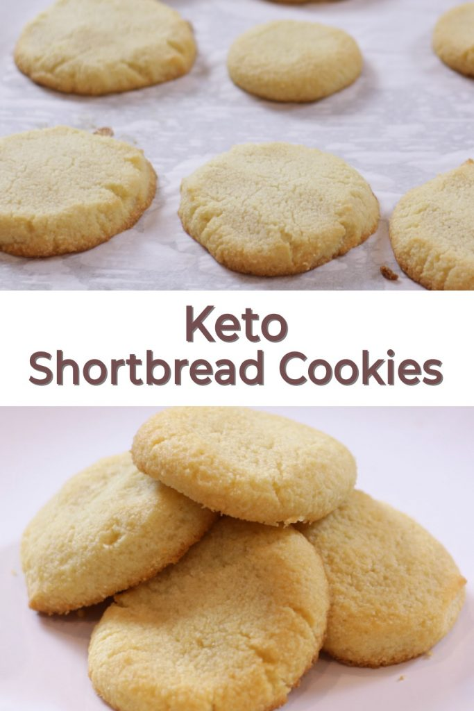 Keto shortbread cookies pin for Pinterest