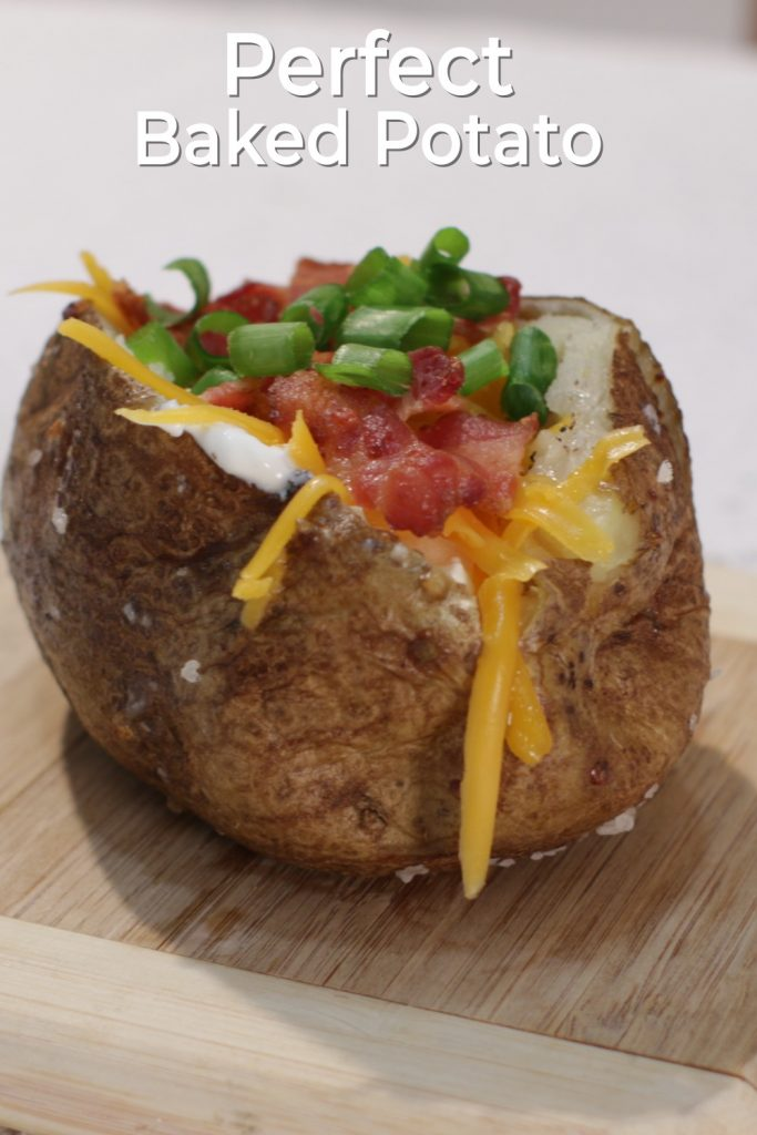 Perfect Baked potato pin for Pinterest