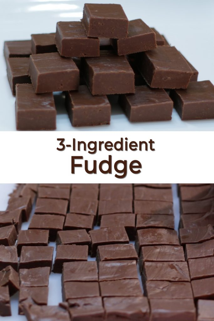 3 Ingredient Fudge pin for Pinterest