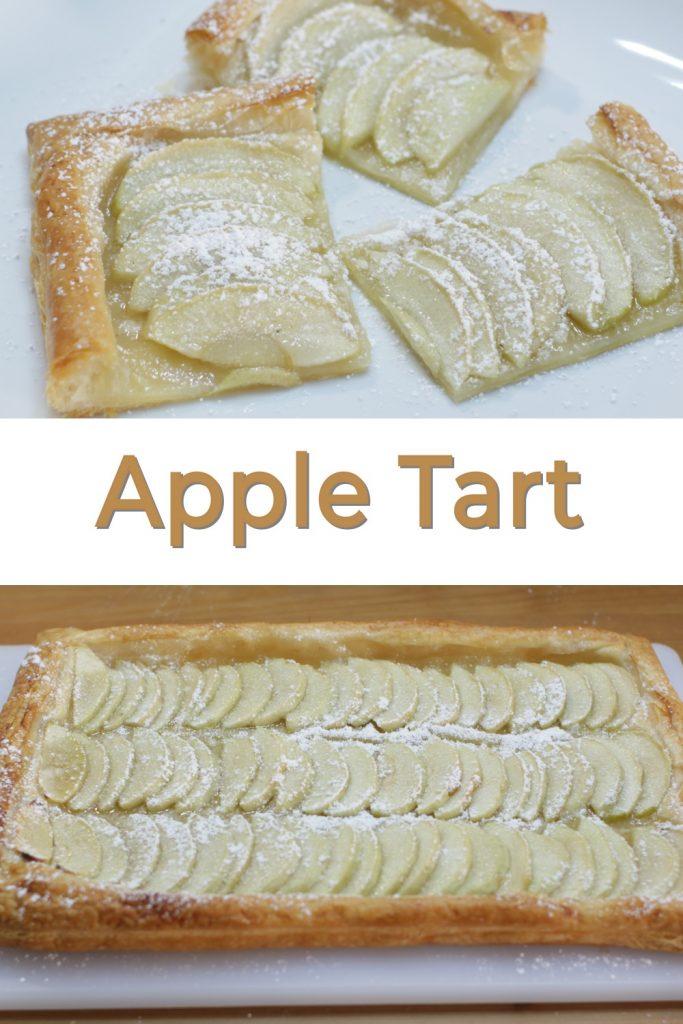 Apple tart pastry pin for Pinterest