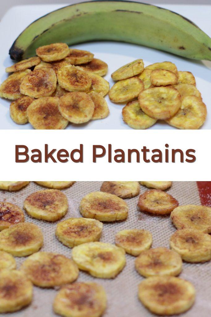 Bake plantains pin for Pinterest