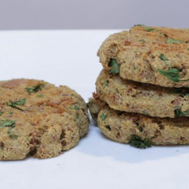 baked tuna patties on a white plate