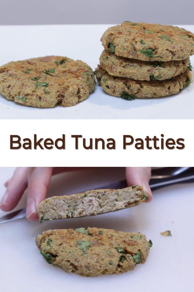 Bake Tuna Patties pin for Pinterest