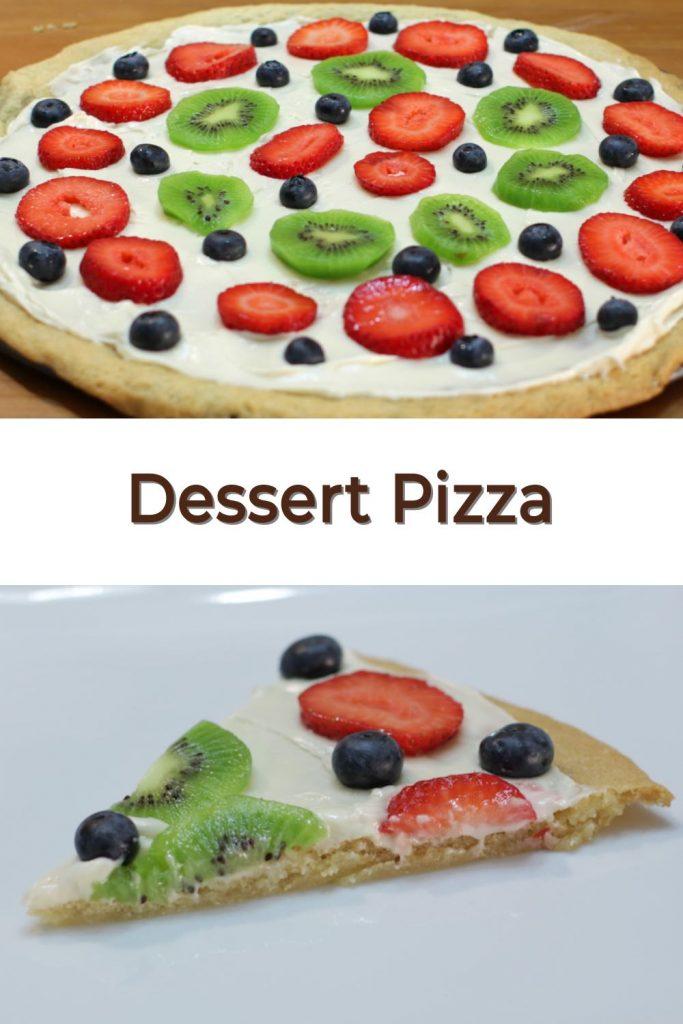 Dessert Pizza pin for Pinterest