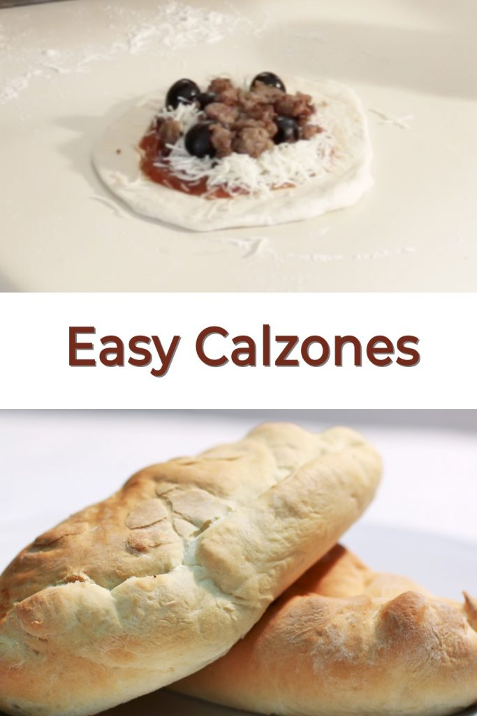 Easy homemade calzones pin for Pinterest