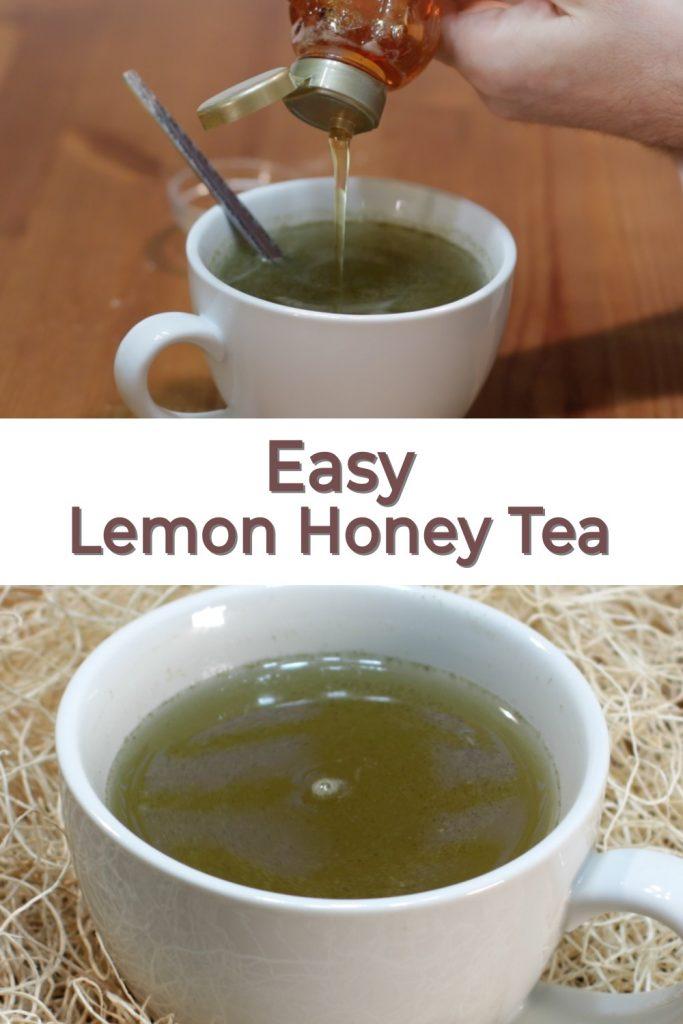 Lemon honey tea pin for Pinterest