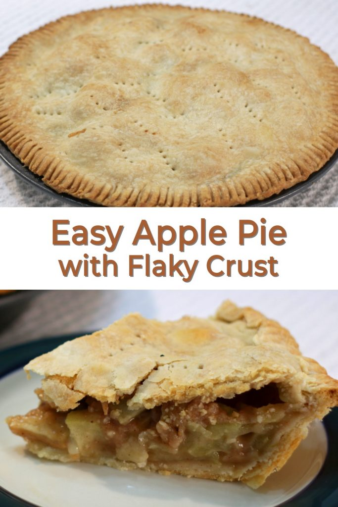Easy Apple Pie with flaky crust Pin for Pinterest