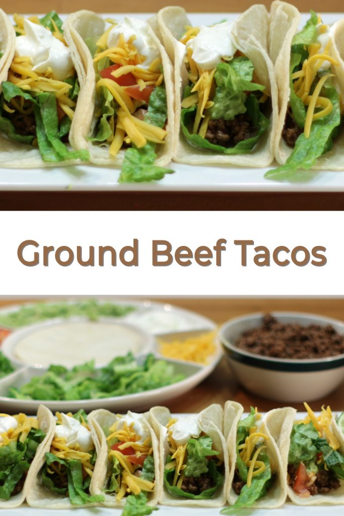 Ground beef tacos pin for Pinterest