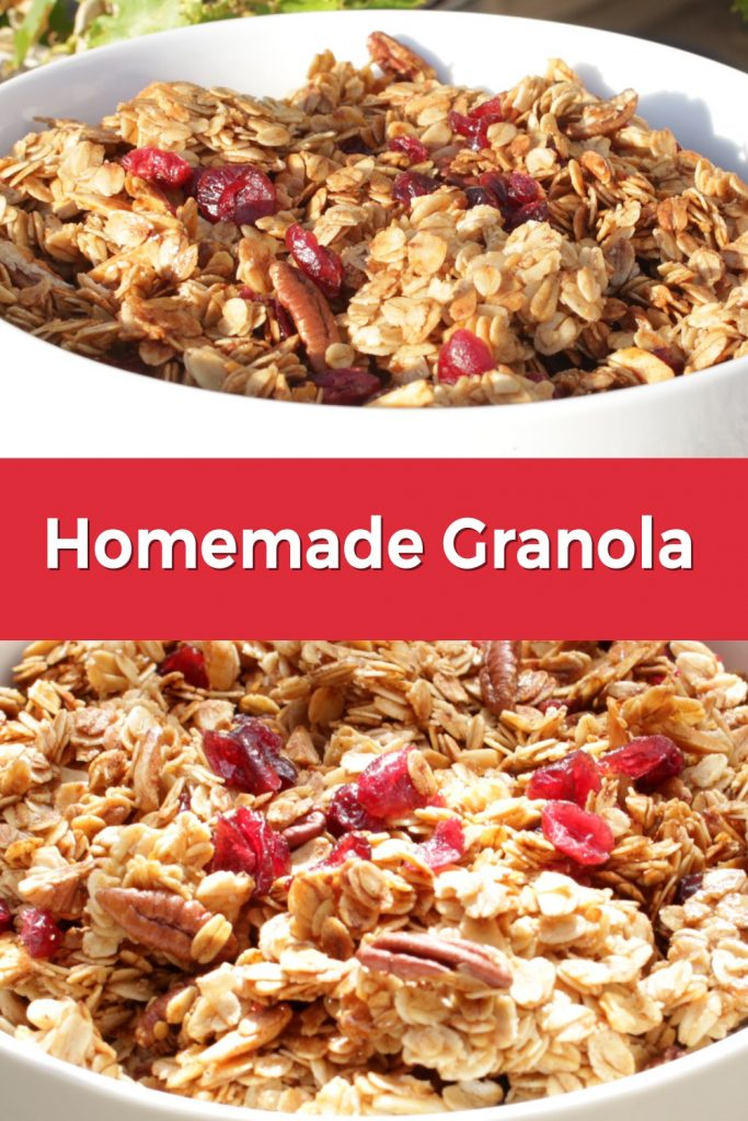 Homemade granola pin for Pinterest