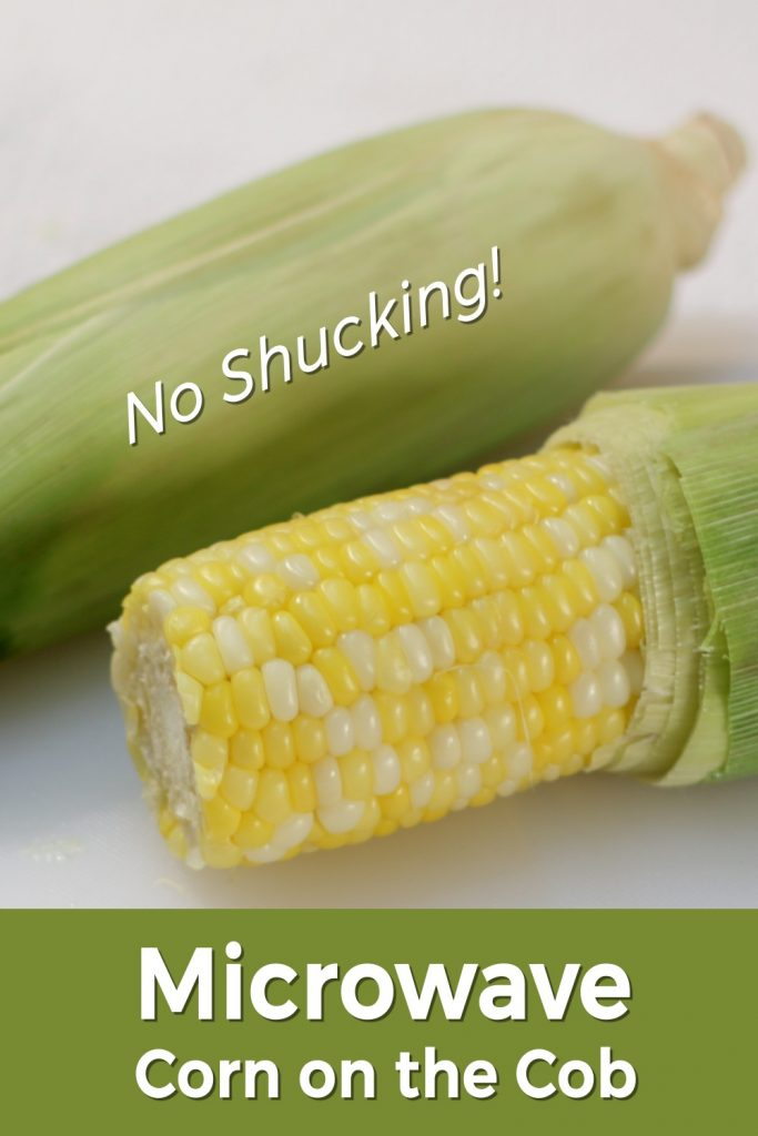 Microwave corn on the cob pin on Pinterest