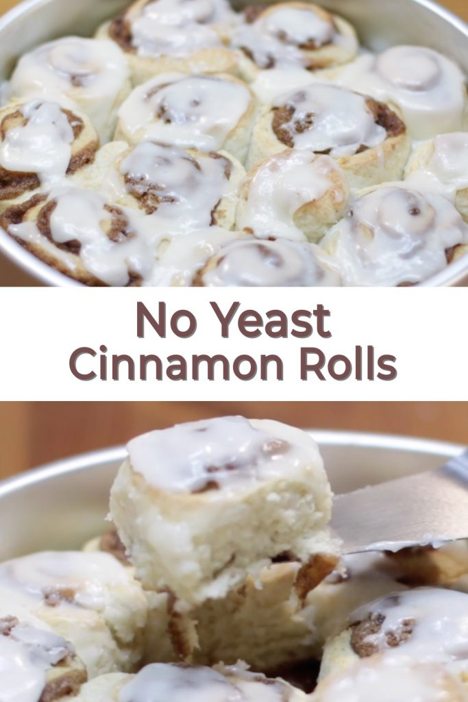 Cinnamon Rolls Without Yeast pin for Pinterest